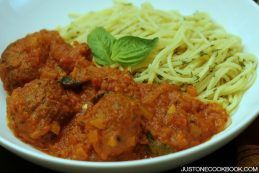 Spaghetti Meatball | JustOneCookbook.com