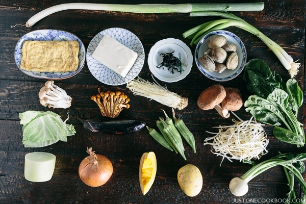 Miso Soup - Ingredients