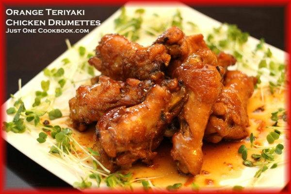 Orange Teriyaki Chicken Drumettes | Easy Japanese Recipes at JustOneCookbook.com