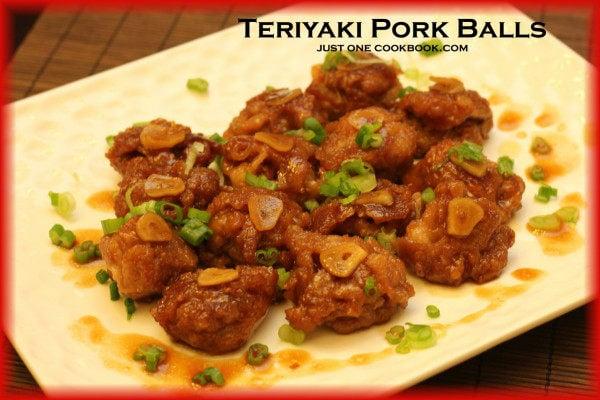 Teriyaki Pork Balls | Easy Japanese Recipes at JustOneCookbook.com