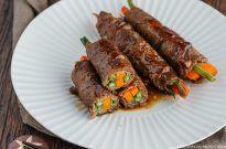 Teriyaki Steak Rolls 野菜の牛肉巻き