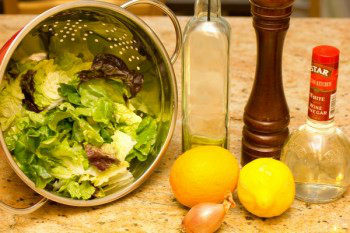 Green Salad with Blood Orange Vinaigrette 1