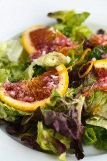 Green Salad with Blood Orange Vinaigrette 5