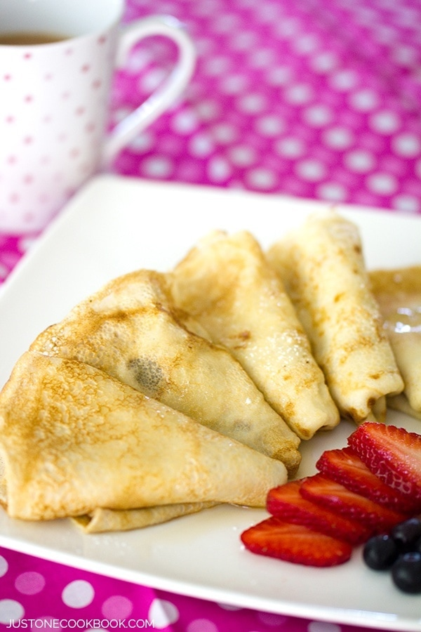 Simple Crepes | JustOneCookbook.com