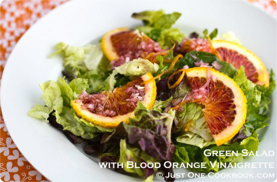 Salad with Blood Orange Vinaigrette Recipe | JustOneCookbook.com