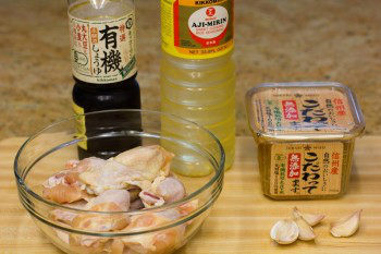 Garlic Miso Chicken Wings Ingredients