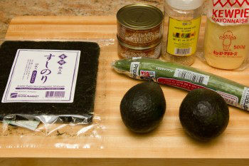 California Roll Ingredients
