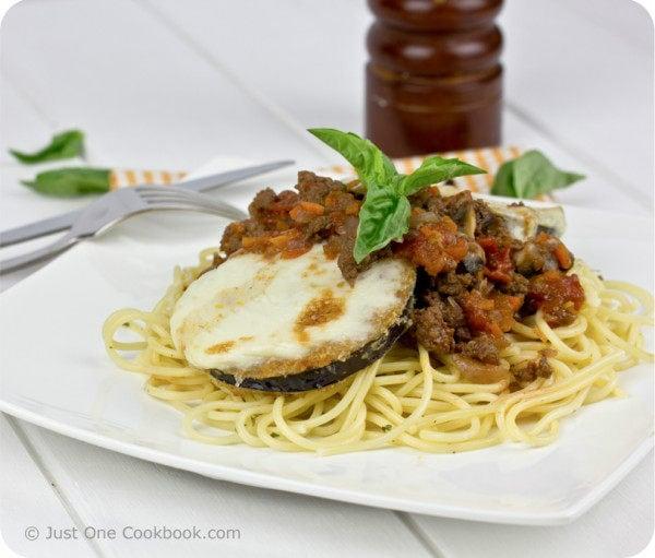Eggplant Parmesan with Meat Sauce