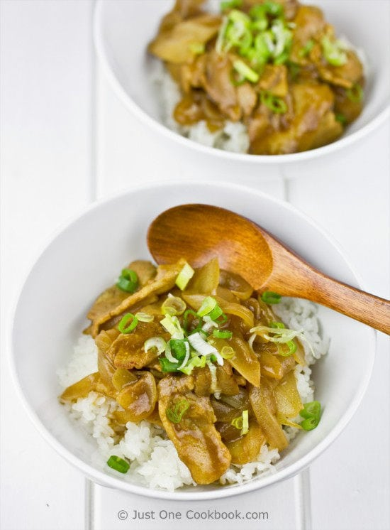 Pork Curry Donburi Recipe | JustOneCookbook.com