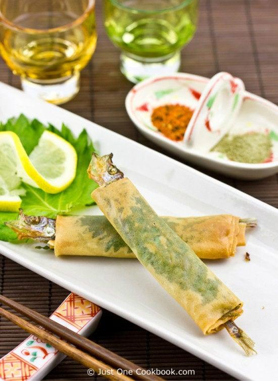 Shishamo Wrap Recipe | JustOneCookbook.com