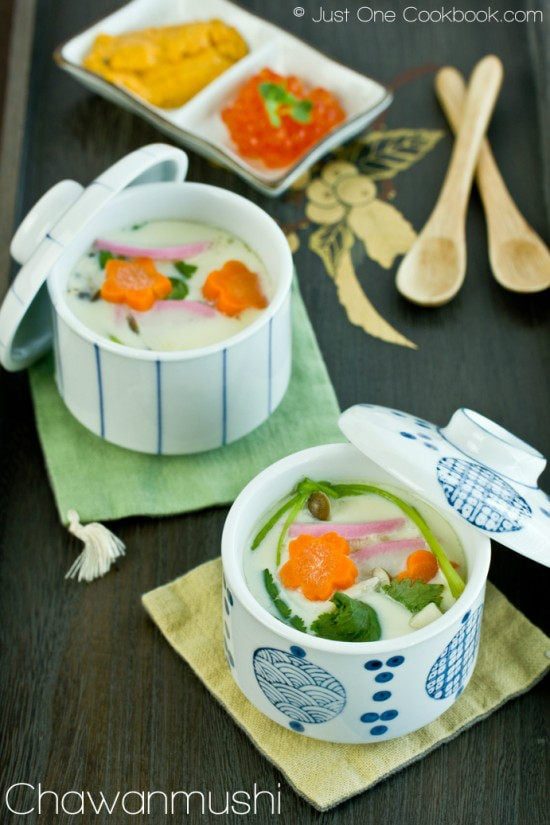 Chawanmushi (Japanese Steamed Egg Custard) 茶碗蒸し • Just One ...