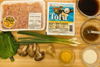 Chicken & Tofu Hamburger Steak Ingredients