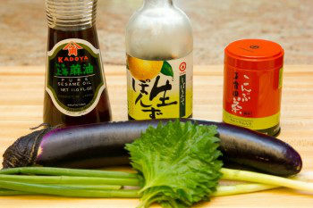 Eggplant with Sesame Ponzu Sauce Ingredients