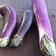 Japanese Eggplants (L) & Chinese Eggplant (R)