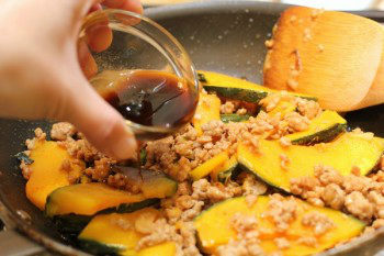 Stir-Fried Kabocha & Pork with Gochujuang Sauce 9