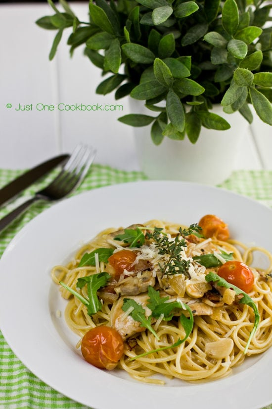 Chicken Scallopini with Lemon Butter Pasta Recipe | Easy Japanese Recipes at JustOneCookbook.com