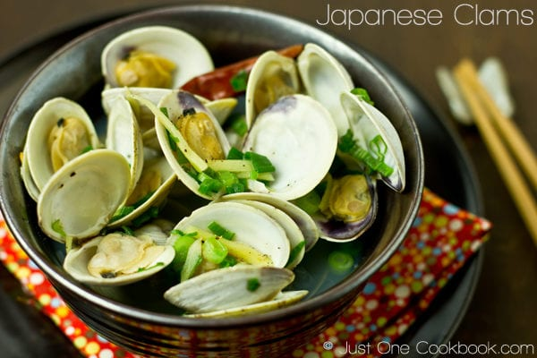 Japanese Clams (Sake Steamed Clams) Recipe | JustOneCookbook.com