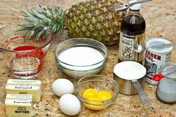Pineapple Upside Down Cake Ingredients