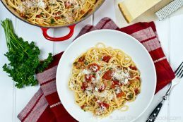Tomato Bacon Pasta | JustOneCookbook.com