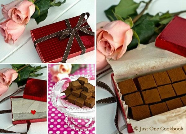 Nama Chocolate (生チョコレート), copycat recipe for famous brand Royce Chocolate in Japan. Easy Japanese Recipes at JustOneCookbook.com