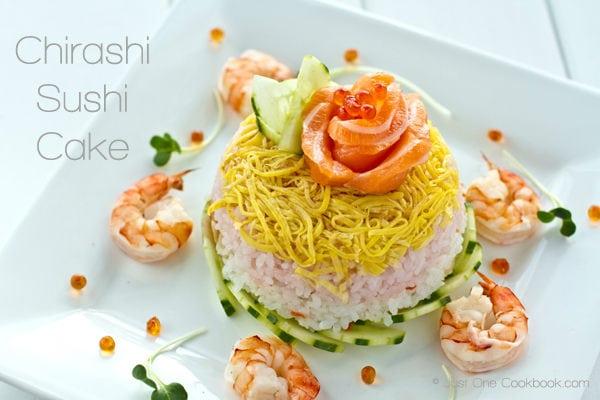 Chirashi Sushi Cake Recipe | JustOneCookbook.com