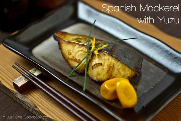 Spanish Mackerel with Yuzu Recipe | JustOneCookbook.com