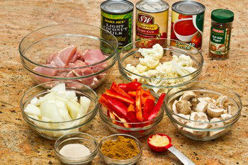Coconut Curry Ingredients