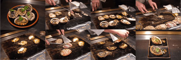 abalone grilled teppanyaki