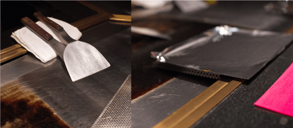 Teppanyaki cooking surface