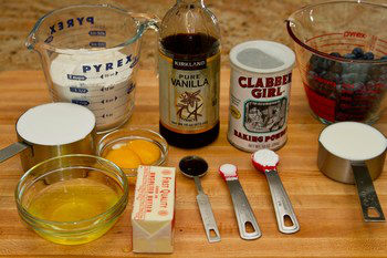 Blueberry Cake Ingredients