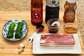 Honey Pork Belly Ingredients