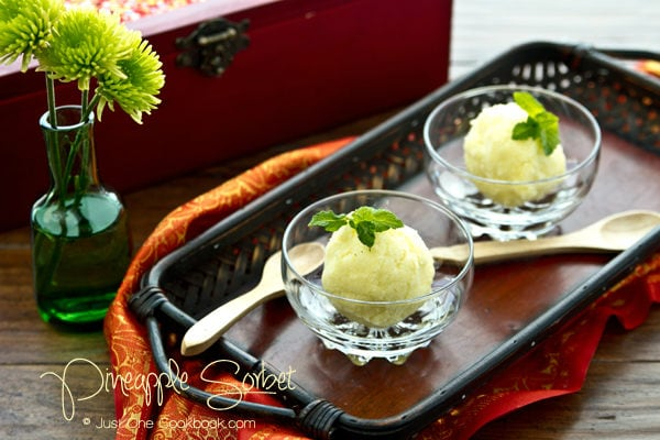 Pineapple Sorbet Recipe | JustOneCookbook.com