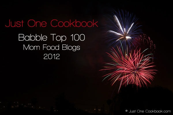 Babble Top 100 Mom Food Blogs 2012 | JustOneCookbook.com