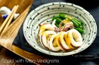 Boiled Squid with Miso Vinaigrette | Just One Cookbook