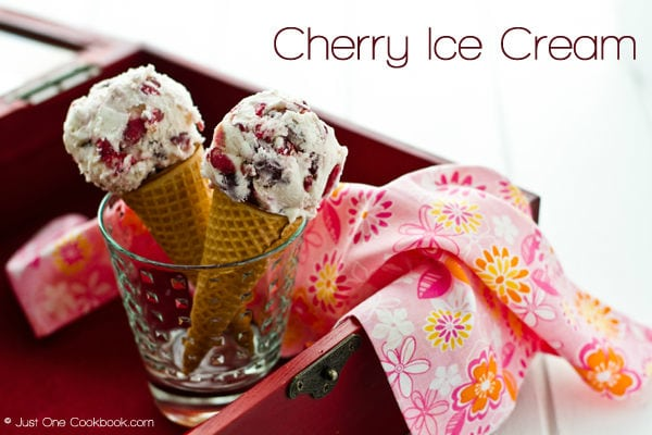 Cherry Ice Cream Recipe | JustOneCookbook.com