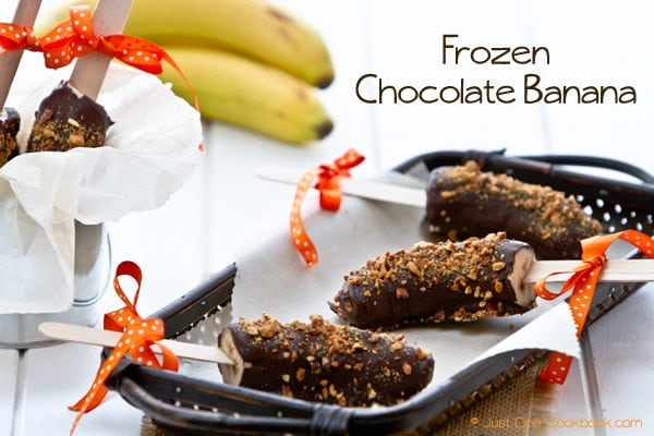 Frozen Chocolate Banana Recipe | JustOneCookbook.com