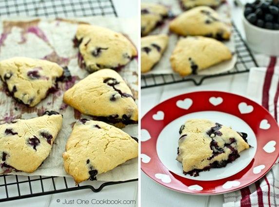 Blueberry Creme Fraiche Scones   JustOneCookbook.com