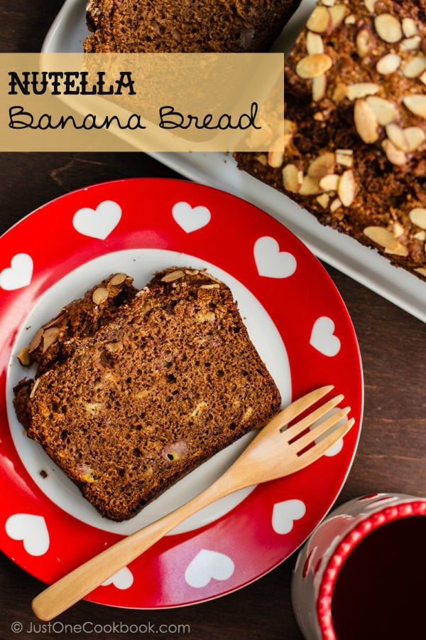 Nutella Banana Bread | JustOoneCookbook.com