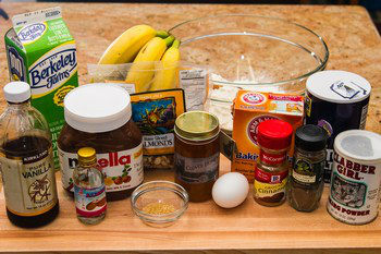 Nutella Banana Bread Ingredients