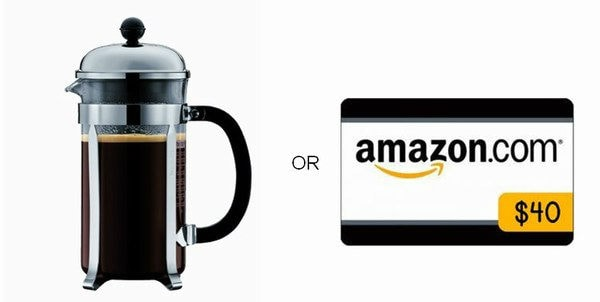 Bodum Chambord 8 cup French Press Coffee Maker or $40 Amazon Gift Card Giveaway