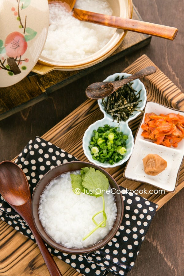 japanese rice balls onigiri ginger honey okayu japanese rice porridge ...