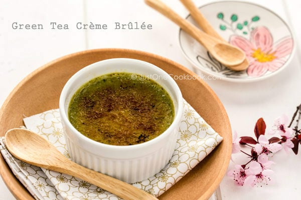 Green Tea Crème Brûlée | Easy Japanese Recipes at JustOneCookbook.com