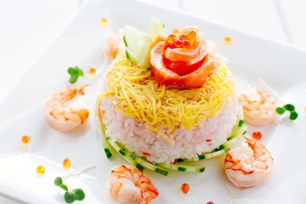 Chirashi Sushi Cake | Easy Japanese Recipes at JustOneCookbook.com