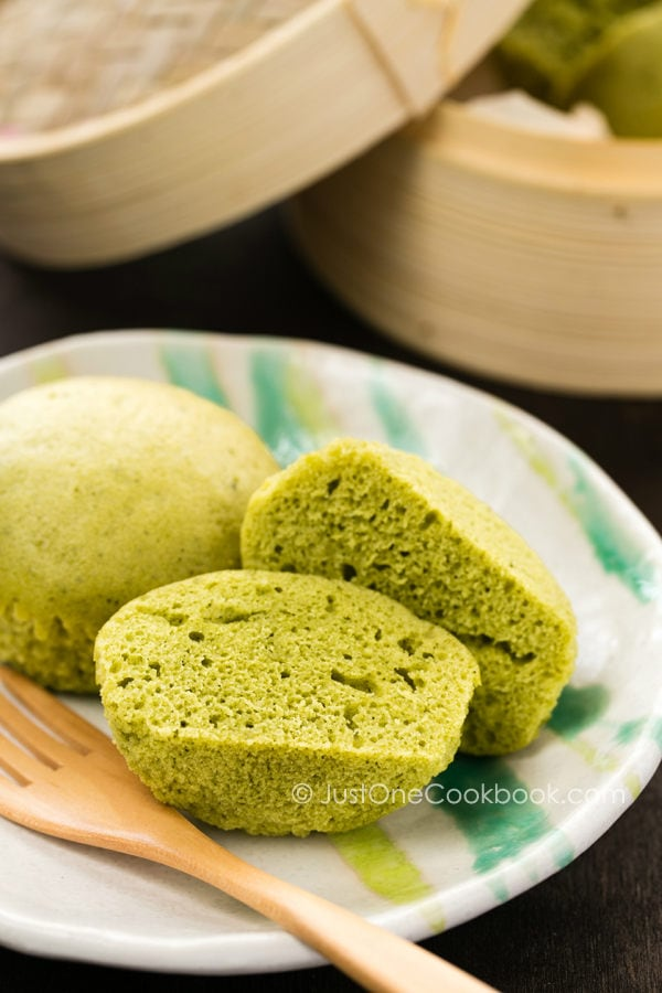 Steam Cake Recipes Pictures : Green Tea Steamed Cake ??????   Just One Cookbook