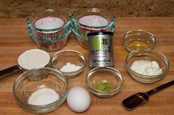 Green Tea Steamed Cake Ingredients