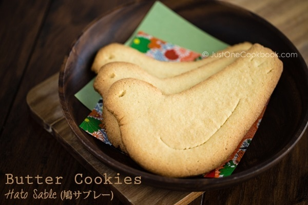 Butter Cookies (Hato Sable) | Easy Japanese Recipes at JustOneCookbook.com