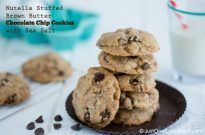 Chocolate Chip Cookies with Nutella | JustOneCookbook.com