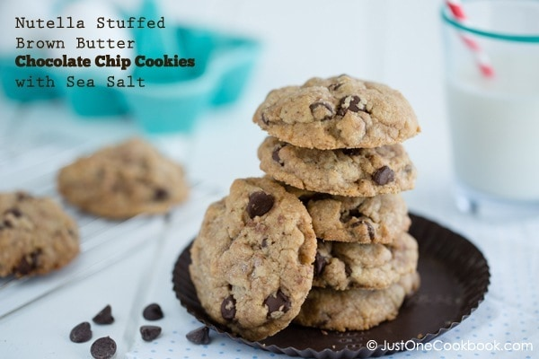 Chocolate Chip Cookies with Nutella | Easy Japanese Recipes at JustOneCookbook.com