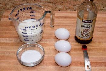 Custard Pudding Ingredients