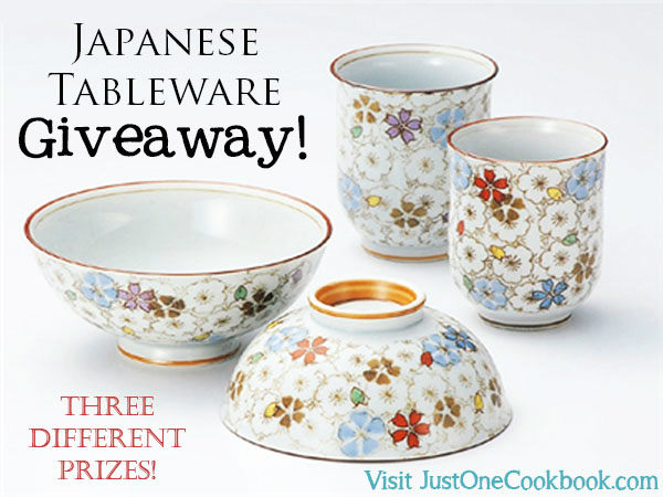 Japanese Tableware Giveaway   Easy Japanese Recipes at JustOneCookbook.com